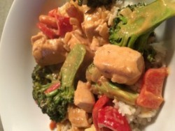 Photo of Chicken with Peanut Curry Sauce